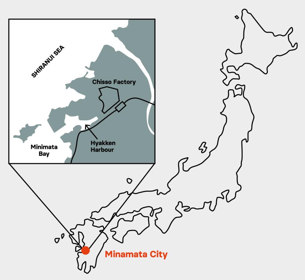 La companyia de fertilitzants Chisso instal·la una factoria en Minamata
