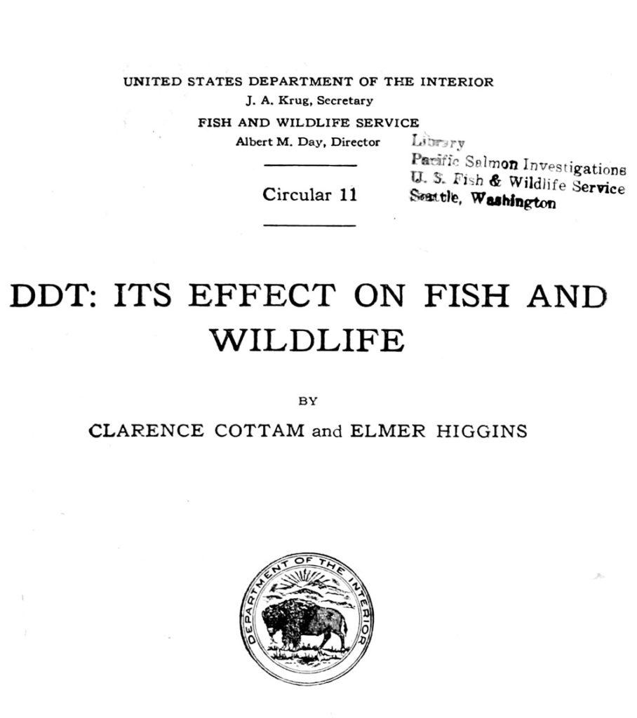 Primers estudis respecte a la toxicitat del DDT
